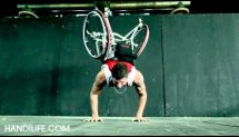 Handstand Pushups with wheelchair