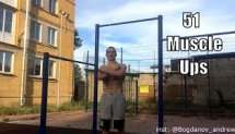 51 muscle ups in one set (51 Выход на две )