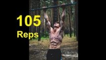 105 Pull Ups - WORLD RECORD - (No Hanging Rest & All in One Set)