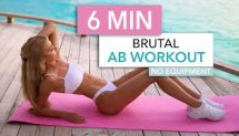 6 MIN BRUTAL AB WORKOUT - intense sixpack workout, short and sweet / No Equipment I Pamela Reif