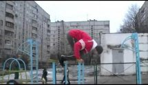 Ievgen Shcherbyna Winter training, Handstand, Front Lever Street Workout.