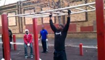 Bar-Barians (Tuface) Workout in Wingate Park (2010)