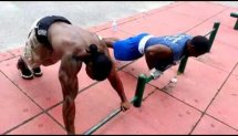 Street training (JUICE) - I love push-ups