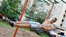 Front lever to one arm front lever by I.IVANOV