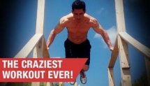 COOLEST BODYWEIGHT WORKOUT!!  (It's Hell)
