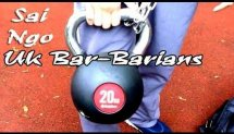 Sai Ngo (UK Bar-Barians) - Training with the added weight