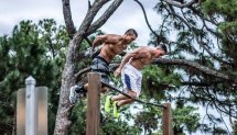 My Street Workout Performance ► NATIONAL TV (Brendan Meyers & Rob Lohnes)