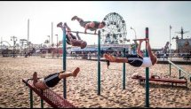 Coney Island beach workout NYC