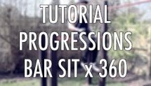 Bar sit x 360 tutorial (street workout calisthenics progressions)