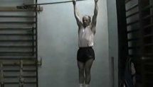 Pull ups: 77 for 8 minutes without rest