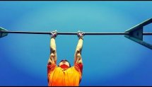 Horizontal bar & Handstand training.Gymnastics elements.