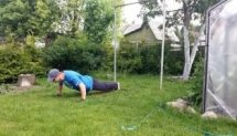 Workout 100 days. Final test push-ups