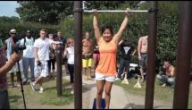 Jasmine Moksim - Performing Max Pull-Ups in 60 Seconds - M.E.R.C