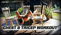 Creative at home Chest and Tricep workout