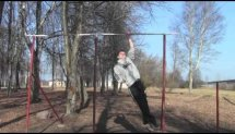 Training (Extreme Muscle ups, One arm pull ups)