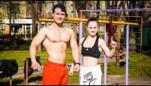 Ukrainian Bar-Barians Training. Deny Montana & Dasha The Will
