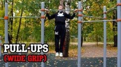Wide Grip Pull-Ups