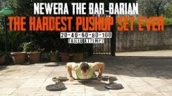The Hardest Pushup Set Ever - NewEra The Bar-Barian [20/40/60/80/100 5MD] (fail)