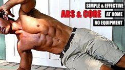 4 Simple & EFFECTIVE ABS/CORE Exercises at HOME without Equipment