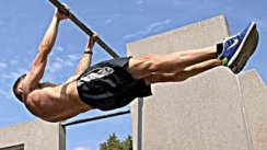 Frontlever Workout - Drop Sets