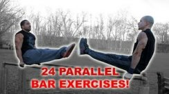 24 Parallel Bar Exercises For You To Try!