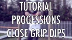 Close grip dips tutorial x progressions (calisthenics street workout)
