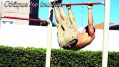 Ab routine on a pull up bar