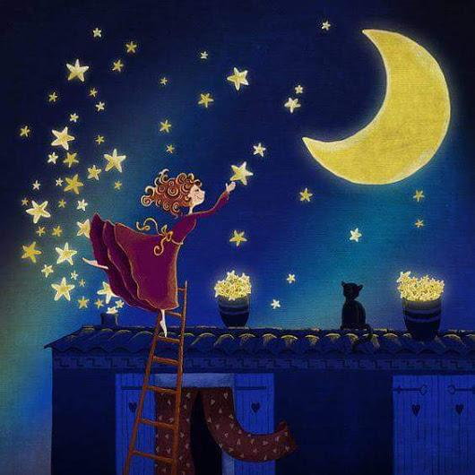Открытка спокойной ночи для эллы