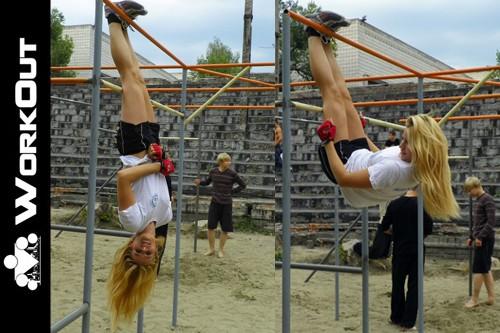 Девушки в воркауте: Алина Безбородова (Новосибирск)