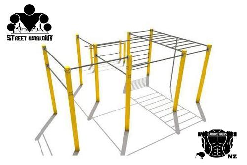 Ещё один проект уличной спортивной площадки для воркаута!