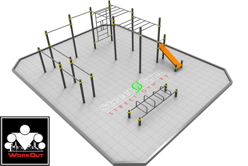 StreetGym: Воркаут площадка для Двора-I