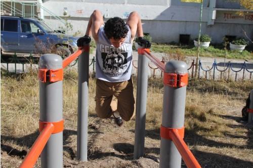 В Губинском округе Якутска открылась спортивная площадка «Воркаут»