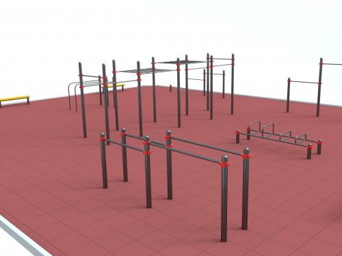StreetGym: Воркаут площадка для Парка-III