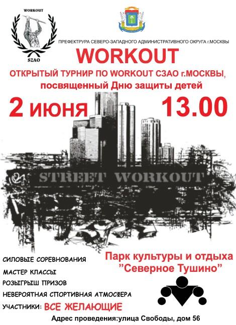 Открытый турнир по WORKOUT СЗАО г.Москвы