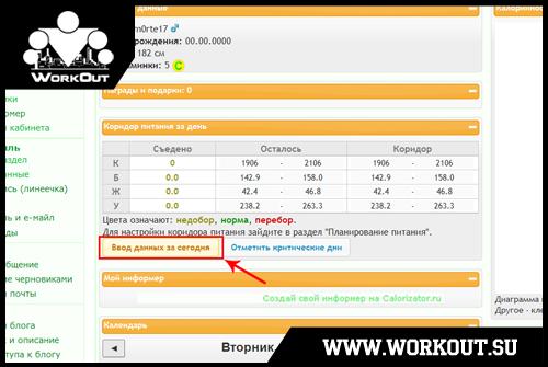 Инструкция к сайту Calorizator.ru: анализируй то, что ты ешь!
