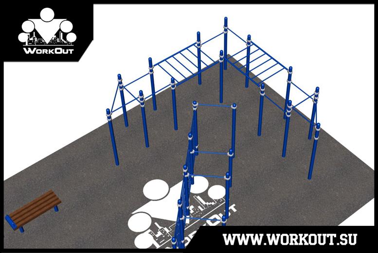 Проект площадки для воркаута в виде логотипа компании