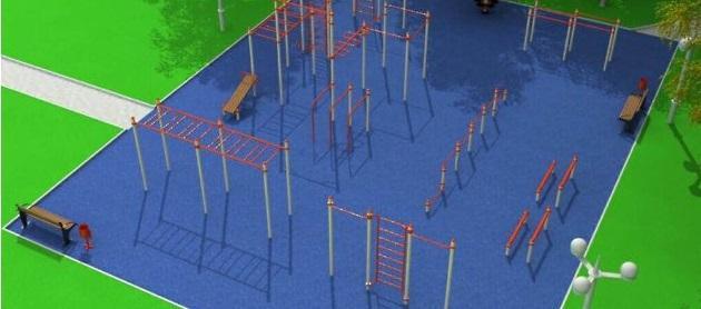 Уличный спорткомплекс появится в парке Пионеров в Чите до конца 2016 года