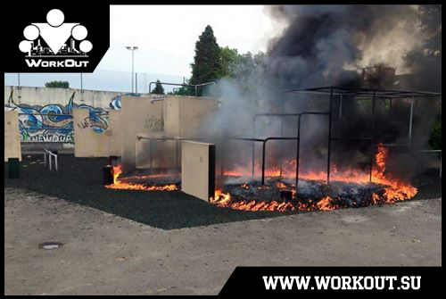 Площадку сожгли до тла