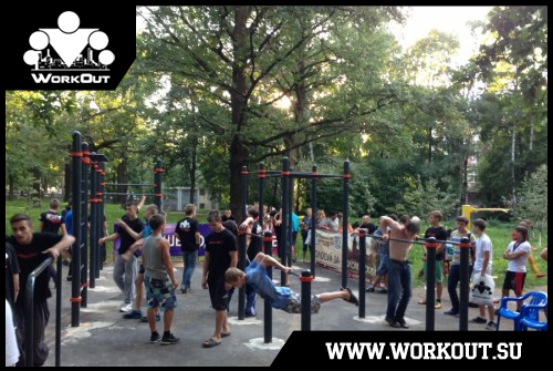Открытие первой площадки для WorkOut в Химках