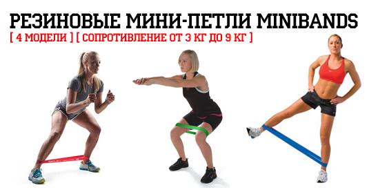 Новости Магазина WORKOUT: утяжелители для рук и ног, резиновые мини петли