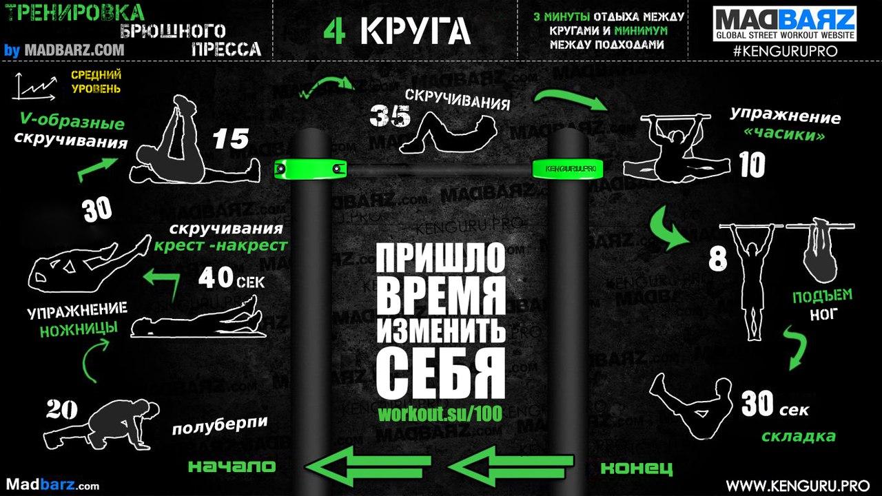 Тренировочные программы низкой, средней и высокой сложности!