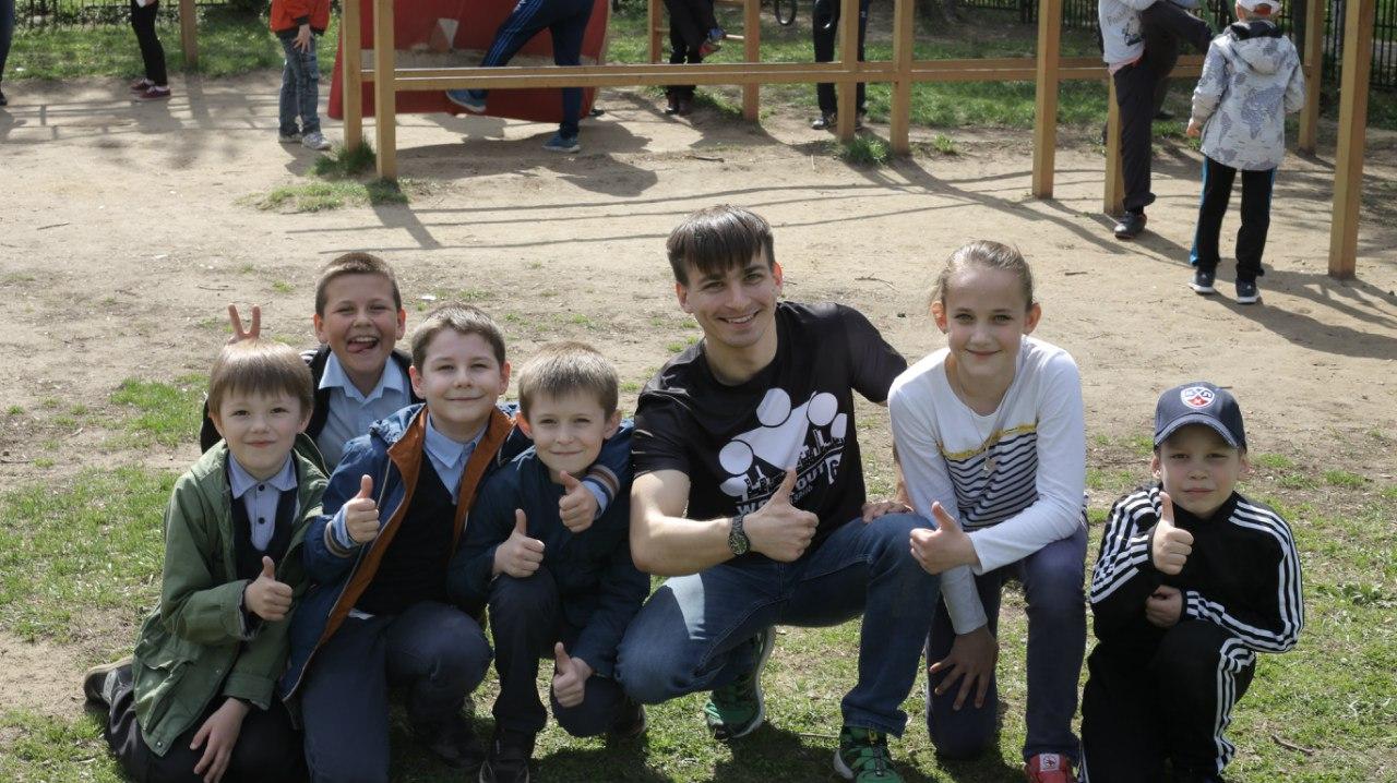 Рязанских школьников знакомят с воркаутом!