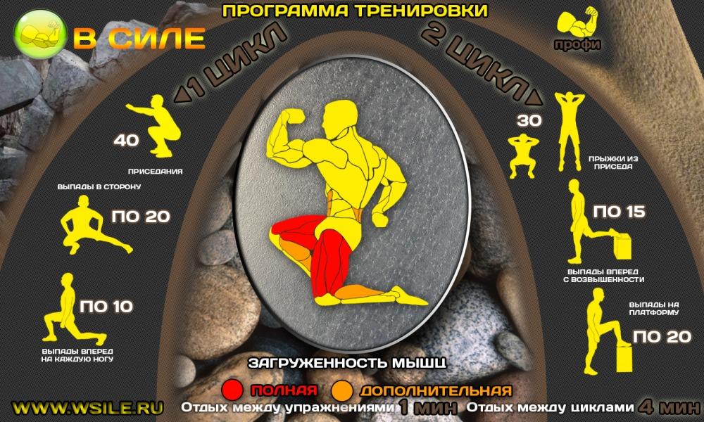 программа тренировок дома для мужчин для похудения
